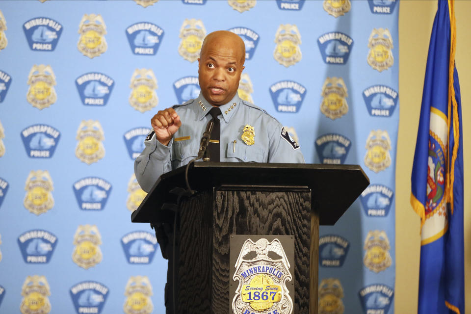 The DoJ is investigating the broad practices of Minneapolis police under chief Medaria Arradondo. (AP Photo/Jim Mone, File)