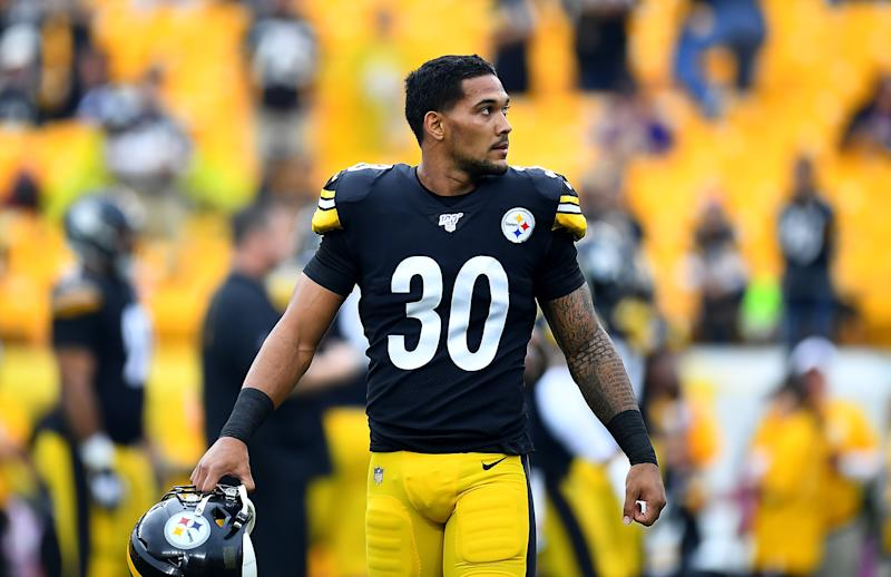 Running back James Conner will miss the Steelers' regular-season finale against the Ravens. (Joe Sargent/Getty Images)