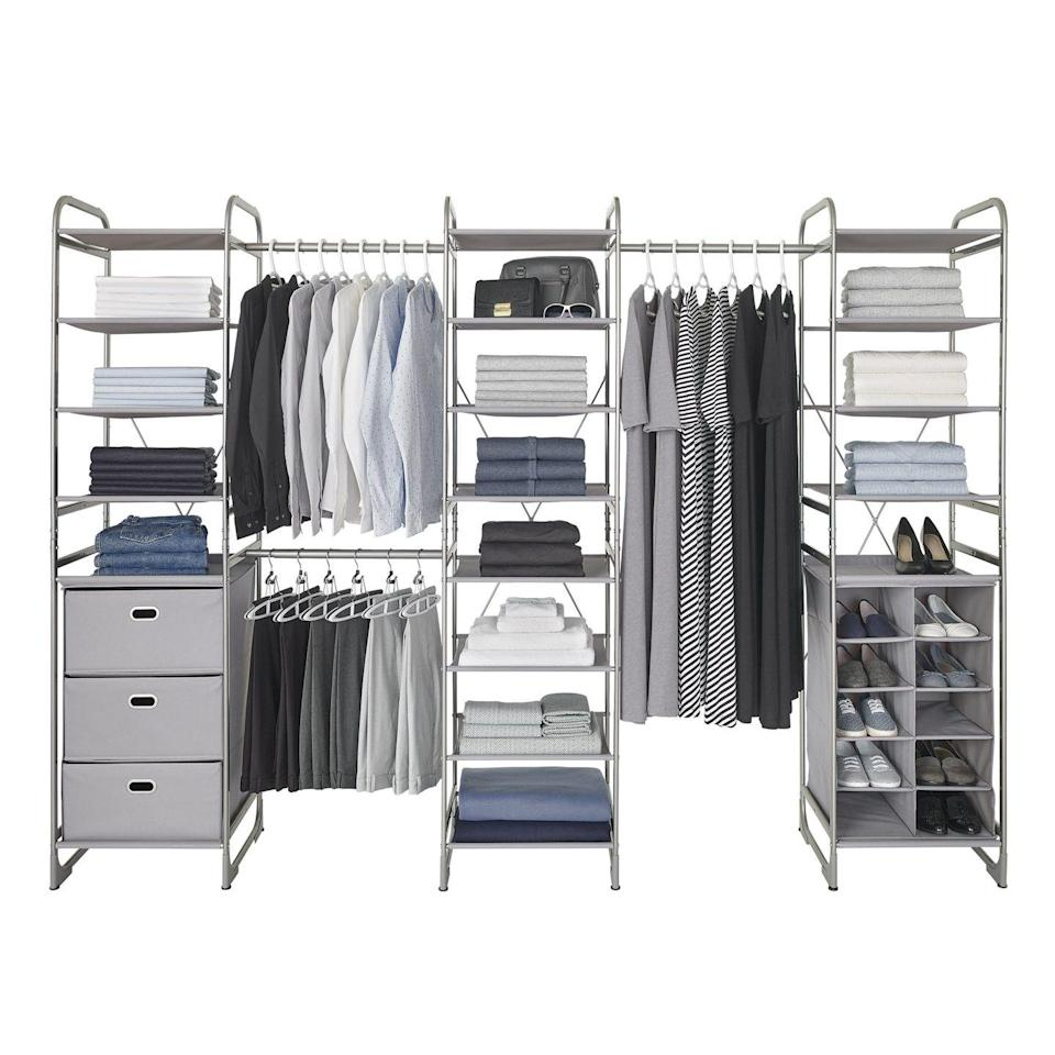 """<p><a class=""""link rapid-noclick-resp"""" href=""""https://ca.neatfreak.com/collections/closet-organization"""" rel=""""nofollow noopener"""" target=""""_blank"""" data-ylk=""""slk:LEARN MORE"""">LEARN MORE</a></p><p>Neatfreak, a favorite of the Good Housekeeping Institute, has a number of modular closet systems, complete with hanger bars, drawers, shelving units, and cubbies for shoes. There are a select number of options under $400 and they're versatile enough to work for different size spaces. </p>"""