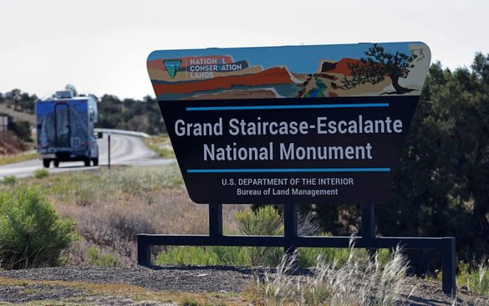 FILE PHOTO: The entrance to Grand Staircase-Escalante National Monument is seen outside of Escalante, Utah