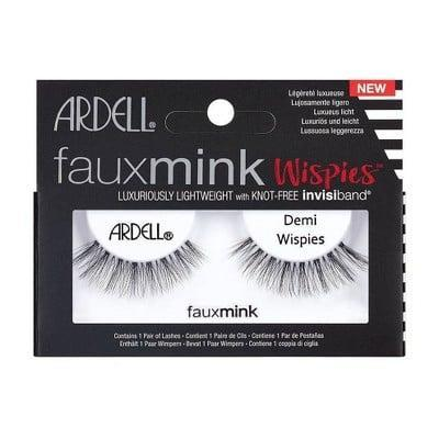 """<p>""""<span>Ardell Eyelash Demi Wispies Faux Mink Black</span> ($6) are a must have in my makeup kit. They are extremely versatile, affordable, and comfortable on the eye. They can be used for a soft-glam look or you can double them up for a more dramatic look."""" - <a href=""""https://www.instagram.com/lauren_damelio/"""" class=""""link rapid-noclick-resp"""" rel=""""nofollow noopener"""" target=""""_blank"""" data-ylk=""""slk:Lauren D'Amelio"""">Lauren D'Amelio</a>, celebrity makeup artist</p>"""