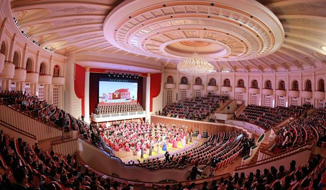 For almost six years, Kim Kyong-hui's name had not been mentioned in North Korean state media until Sunday's KCNA report about the concert. Photo: AFP