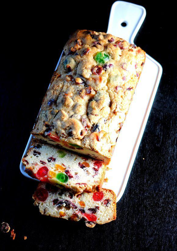 """<p>Even the most finicky guest won't turn away this citrusy and colorful Christmas fruitcake made with whiskey, apricots, and cranberries.</p><p><strong>Get the recipe at <a rel=""""nofollow"""" href=""""http://www.sweetrecipeas.com/2013/12/26/drunken-orange-cranberry-fruit-cake/"""">Sweet Recipeas</a>.</strong></p><p><a rel=""""nofollow"""" href=""""https://www.amazon.com/Good-Cook-Inch-Loaf-Pan/dp/B0026RHI5K"""">SHOP LOAF PANS</a></p>"""
