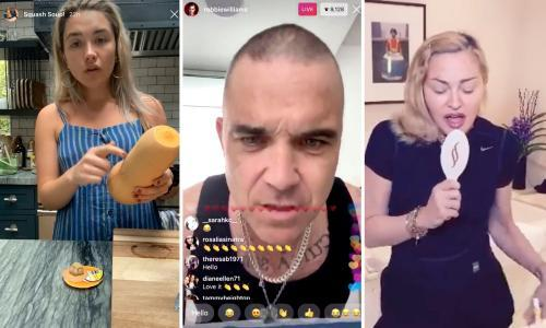 Coronavirus cabin fever: the best celebrities to follow, from Robbie Williams to Florence Pugh