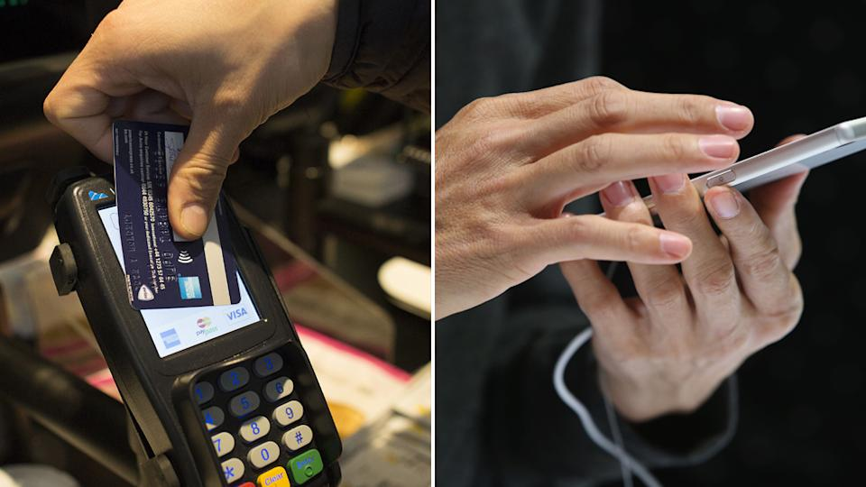 contactless payment via tap and go or a phone app are the best way to avoid contact when ordering coffee