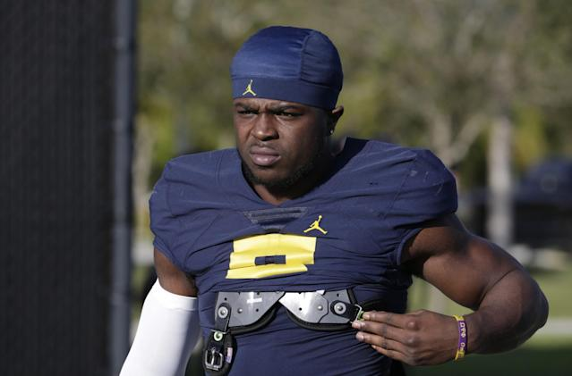 We don't view Michigan's Jabrill Peppers as a top-10 pick, but he'd fit nicely with the Falcons. (AP)