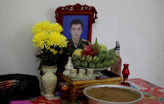 An image of Nguyen Dinh Tu, a 20-year-old Vietnamese man who has been named as one of the victims. (Reuters)