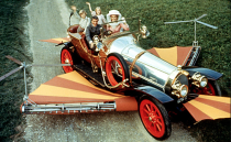 "<p>Based on the book <em>Chitty Chitty Bang Bang: The Magical Car</em> by Bond author Ian Fleming, and with a screenplay by Roald Dahl, this combo could not lose. The car and story were inspired by the real-life racing driver Count Louis Zborowski, who designed and built four aero-engined cars based on Mercedes models. The name ""Chitty Bang Bang"" originated from the sound the cars made while idling.</p><p>For the film, six cars were created, including one fully functional road-going vehicle with the UK registration GEN 11. In 1967, it was designed by the film's production designer Ken Adam and built by the Ford Racing Team or Alan Mann Racing—semantics—and fitted with a Ford 3000 V-6 engine and an automatic transmission. The studio built five other car props: a smaller road-going version, a transforming car, a hover car, a flying car, and an engineless version for trailer work. Some had engines added after filming so they could be used to promote the film. </p><p>Considered to the one of the most expensive movie props sold at auction, the GEN 11 fetched $805,000 in 2011, sold alongside the Wicked Witch's crystal ball from <em>The Wizard of Oz,</em> James Dean's tweed jacket from <em>Rebel Without a Cause,</em> and John Lennon's original handwritten lyrics for ""Lucy in the Sky with Diamonds.""</p><p><a class=""link rapid-noclick-resp"" href=""https://www.amazon.com/gp/video/detail/0RQUV6MHYOFWGAICIRJEURG660/?tag=syn-yahoo-20&ascsubtag=%5Bartid%7C10054.g.27421711%5Bsrc%7Cyahoo-us"" rel=""nofollow noopener"" target=""_blank"" data-ylk=""slk:AMAZON"">AMAZON</a></p>"