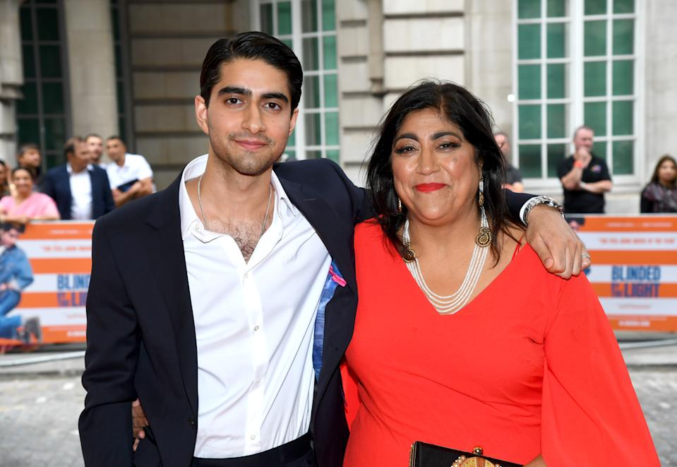 LONDON, ENGLAND - JULY 29: Viveik Kalra and Gurinder Chadha attend the UK Gala Screening of Blinded By The Light at The Curzon Mayfair on July 29, 2019 in London, England. (Photo by Dave J Hogan/Dave Hogan/Getty Images for EONE)