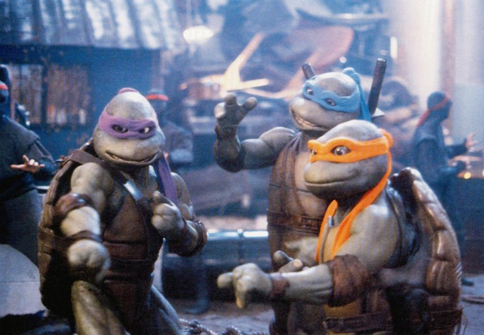 """<p><strong>HBO Max's Description:</strong> """"When the evil Shredder gets his hands on a canister of toxic ooze he attempts to create his own army of mutant enemies. Now, the Turtles must take on Shredder and his new mutant allies to save the world.""""</p> <p><a href=""""https://play.hbomax.com/feature/urn:hbo:feature:GXehMswIc38PCwwEAAEIE"""" class=""""link rapid-noclick-resp"""" rel=""""nofollow noopener"""" target=""""_blank"""" data-ylk=""""slk:Watch Teenage Mutant Ninja Turtles II: The Secret of the Ooze on HBO Max here!"""">Watch <strong>Teenage Mutant Ninja Turtles II: The Secret of the Ooze</strong> on HBO Max here!</a></p>"""