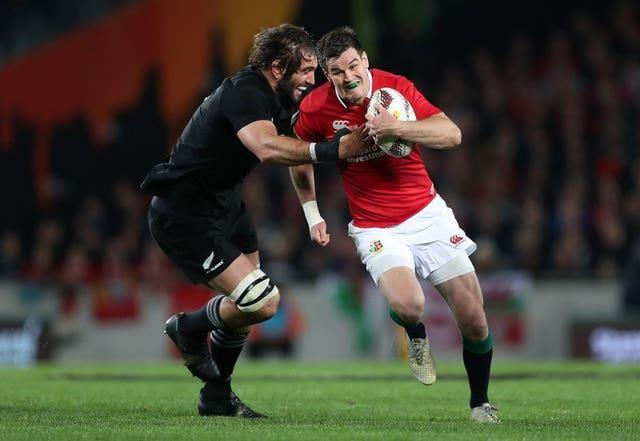 Johnny Sexton, right, has been part of two British and Irish Lions tours