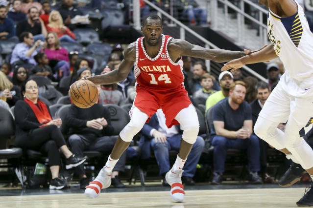 "<a class=""link rapid-noclick-resp"" href=""/nba/players/5256/"" data-ylk=""slk:Dewayne Dedmon"">Dewayne Dedmon</a> averaged 10 points, 7.9 rebounds and 1.5 assists in 62 games and 46 starts for the <a class=""link rapid-noclick-resp"" href=""/nba/teams/atl"" data-ylk=""slk:Hawks"">Hawks</a> last season. (AP)"