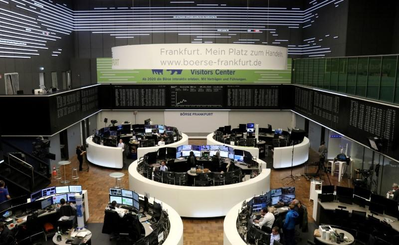 European shares end whipsaw session higher as stimulus hopes persist