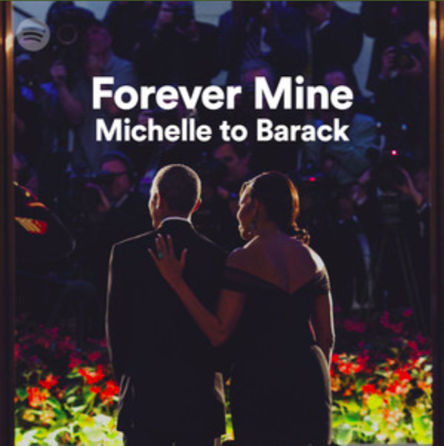 So sweet.  (Michelle Obama/Spotify)