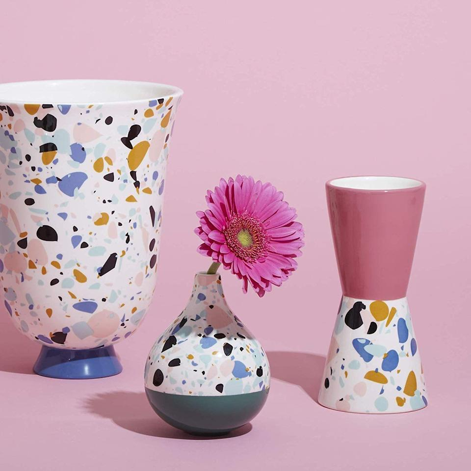 "<p>Instead of a bouquet, give an artful vase with a single bud that will brighten their desk.</p><br><br><strong>Now House by Jonathan Adler</strong> Terrazzo Droplet Vase, $28, available at <a href=""https://www.amazon.com/Now-House-Jonathan-Adler-Terrazzo/dp/B07G5TVK81/ref=sr_ph_1"" rel=""nofollow noopener"" target=""_blank"" data-ylk=""slk:Amazon"" class=""link rapid-noclick-resp"">Amazon</a>"
