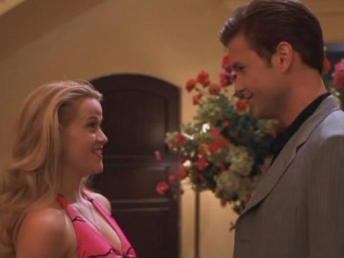 """Reese Witherspoon and Matthew Davis in """"Legally Blonde."""""""