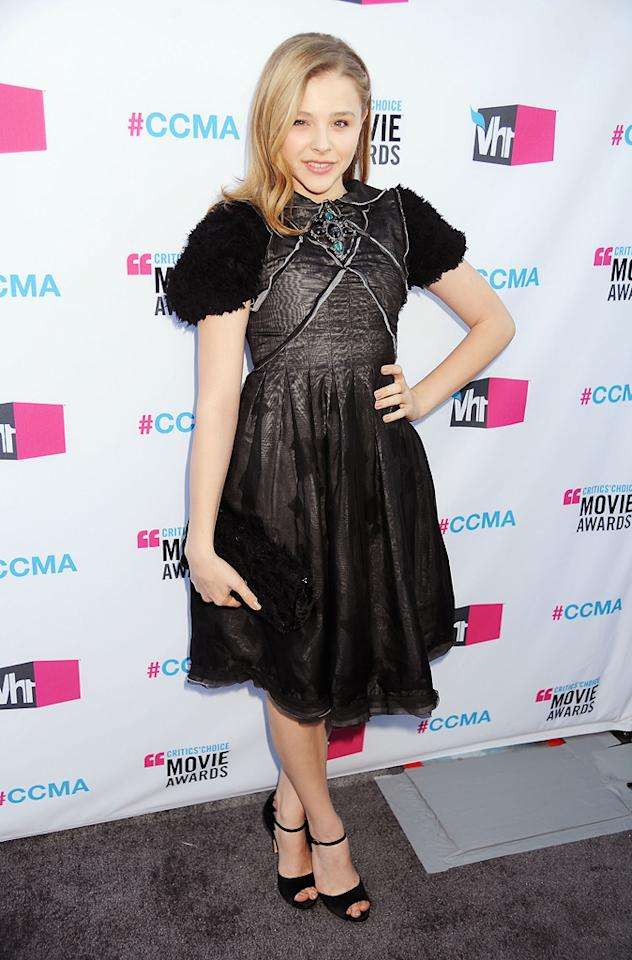 Chloe Moretz at the 17th Annual Critics' Choice Awards in Hollywood on January 12, 2012.