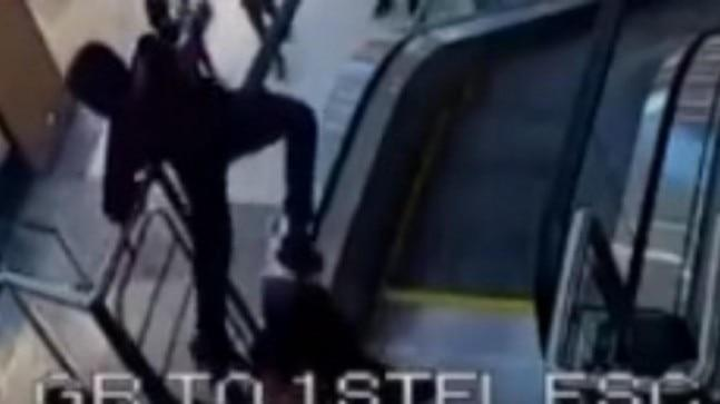 Closed circuit television camera footage acquired by the Ranchi police shows the boy climbing over the moving handrail of the escalator on the first floor to reach the ground floor.