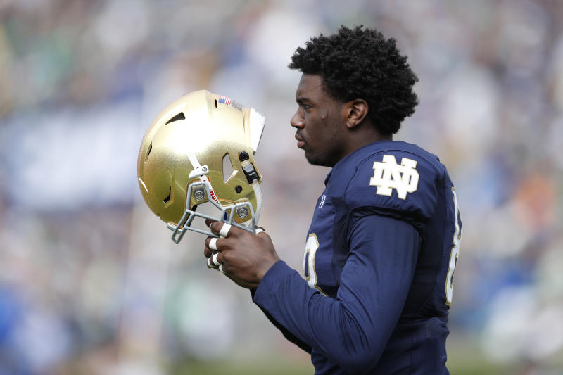 Notre Dame football player arrested Sunday morning