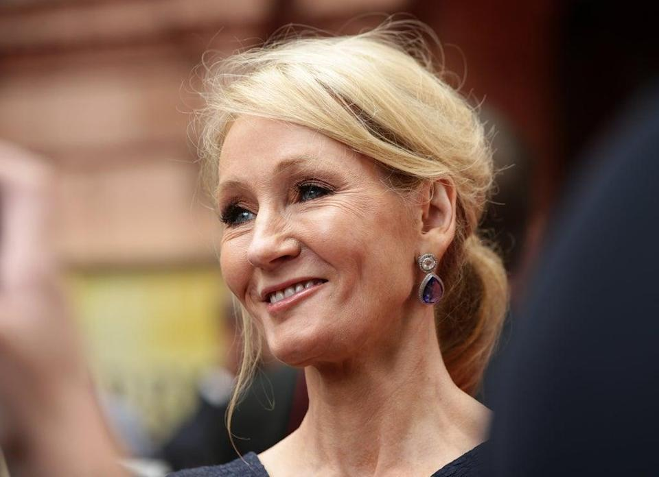 JK Rowling has joked she will have champagne and cheese on toast for the 25th anniversary of Harry Potter (Yui Mok/PA) (PA Archive)
