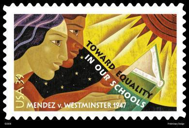 Image: In 2007, the Mendez case was commemorated on a U.S postage stamp. (U.S. Postal Service)