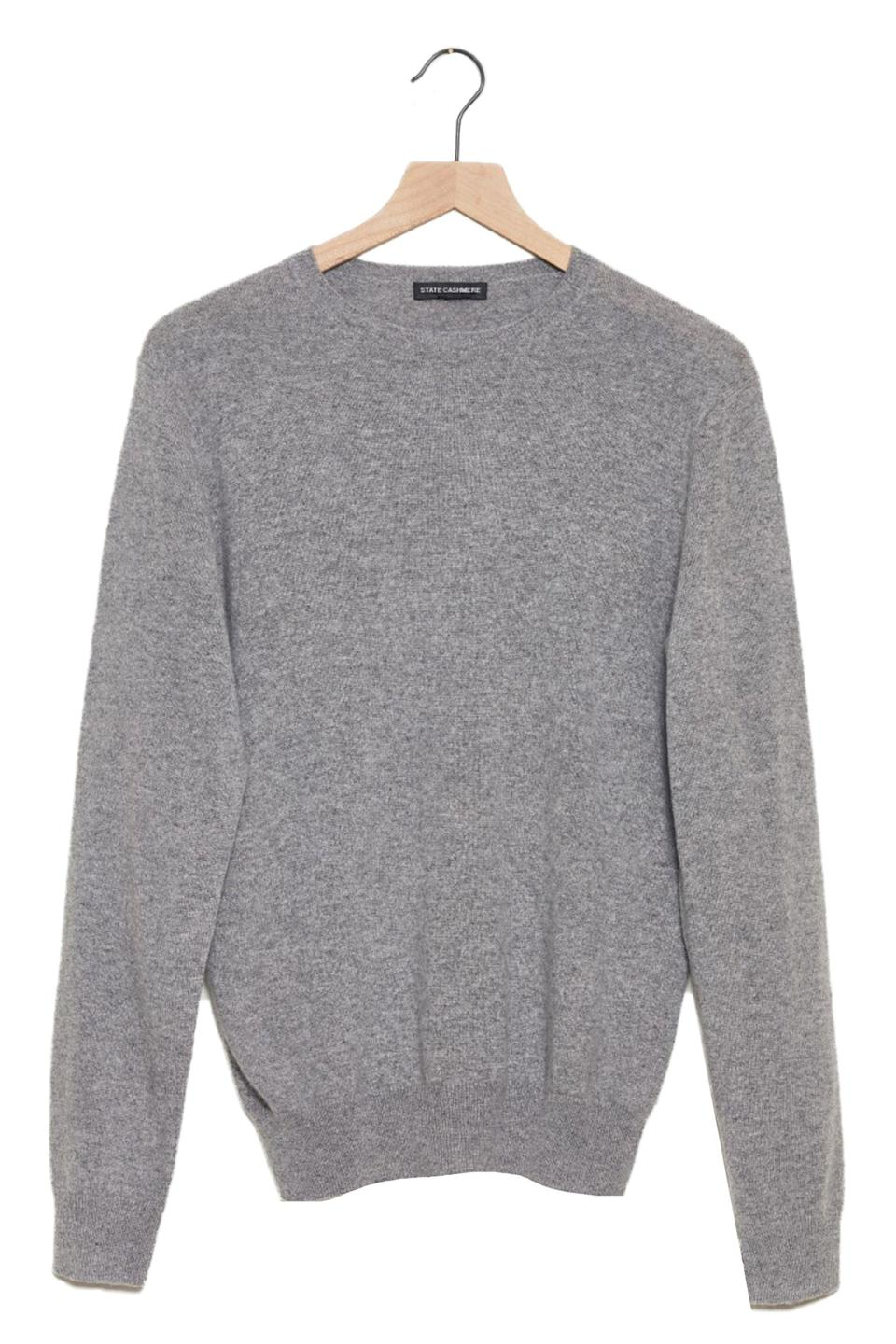 """<p><strong>State Cashmere</strong></p><p>amazon.com</p><p><strong>$140.00</strong></p><p><a href=""""https://www.amazon.com/dp/B074CTX7V2?tag=syn-yahoo-20&ascsubtag=%5Bartid%7C10063.g.34824549%5Bsrc%7Cyahoo-us"""" rel=""""nofollow noopener"""" target=""""_blank"""" data-ylk=""""slk:Shop Now"""" class=""""link rapid-noclick-resp"""">Shop Now</a></p><p>Editor-loved brand <a href=""""https://www.amazon.com/stores/State+Cashmere/page/775AA30A-0943-43CB-A50B-19922DD17EF2?ref_=ast_bln"""" rel=""""nofollow noopener"""" target=""""_blank"""" data-ylk=""""slk:State Cashmere"""" class=""""link rapid-noclick-resp"""">State Cashmere</a> makes 100% pure hypoallergenic cashmere for a fraction of what I see a lot of other brands charging. Here, a failsafe crewneck he'll have for years to come.</p>"""