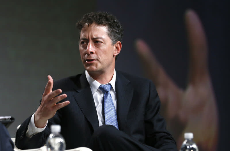 FILE PHOTO: Jeff Smith, CEO of Starboard Value, L.P., speaks at a panel discussion at the SALT conference in Las Vegas