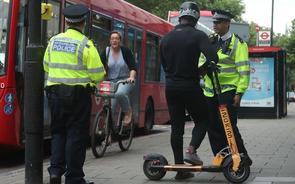 The police have issued a warning around the use of e-scooters - PA