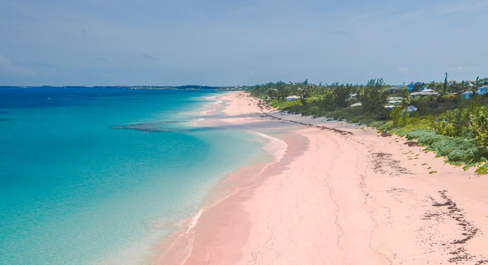 Pink Sand Beach on Harbour Island in the Bahamas (Getty)