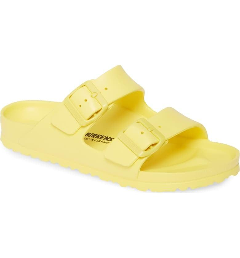 """<p>These comfy <a href=""""https://www.popsugar.com/buy/Birkenstock-Essentials-Arizona-Slide-Sandals-476804?p_name=Birkenstock%20Essentials%20Arizona%20Slide%20Sandals&retailer=shop.nordstrom.com&pid=476804&price=40&evar1=savvy%3Auk&evar9=46468516&evar98=https%3A%2F%2Fwww.popsugar.com%2Fsmart-living%2Fphoto-gallery%2F46468516%2Fimage%2F46468534%2FBirkenstock-Essentials-Arizona-Slide-Sandals&list1=shopping%2Cgift%20guide%2Cyellow%2Cgen%20z&prop13=api&pdata=1"""" rel=""""nofollow"""" data-shoppable-link=""""1"""" target=""""_blank"""" class=""""ga-track"""" data-ga-category=""""Related"""" data-ga-label=""""https://shop.nordstrom.com/s/birkenstock-essentials-arizona-slide-sandal-women/4152948?origin=keywordsearch-personalizedsort&amp;breadcrumb=Home%2FAll%20Results&amp;color=vibrant%20yellow"""" data-ga-action=""""In-Line Links"""">Birkenstock Essentials Arizona Slide Sandals</a> ($40) are a weekend essential.</p>"""