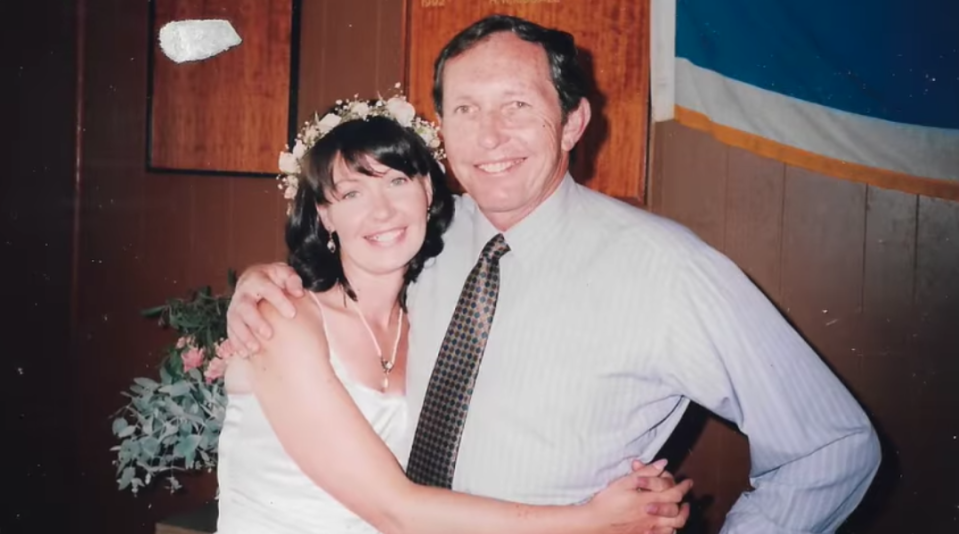Emma-Jane with her late father, Barry, who passed away mid-pandemic in Melbourne. Photo: Emma-Jane Stone (supplied).
