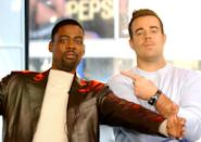 """<p><a class=""""link rapid-noclick-resp"""" href=""""https://www.popsugar.com/Chris-Rock"""" rel=""""nofollow noopener"""" target=""""_blank"""" data-ylk=""""slk:Chris Rock"""">Chris Rock</a> and Carson Daly joked around on <b>TRL</b> in 2003.</p>"""