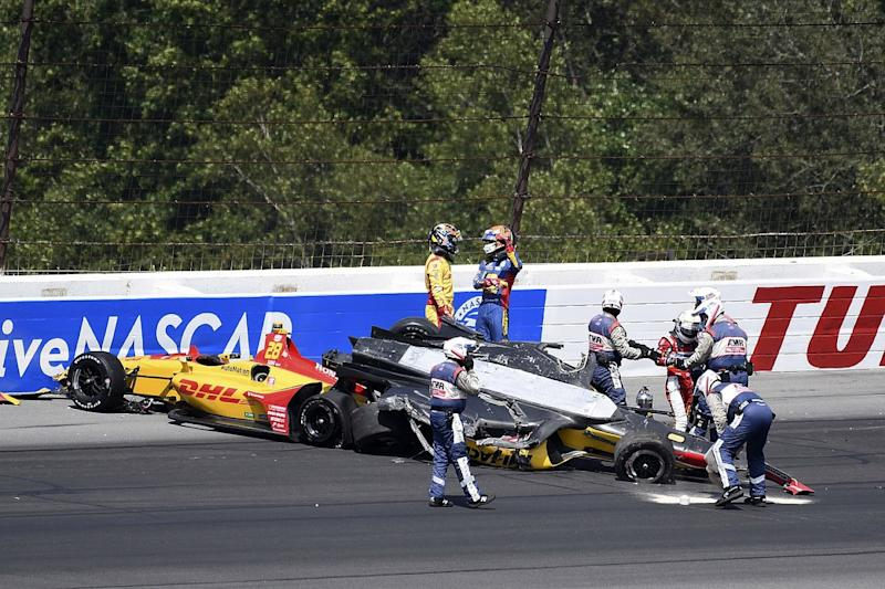 Sato under fire for causing huge Pocono crash