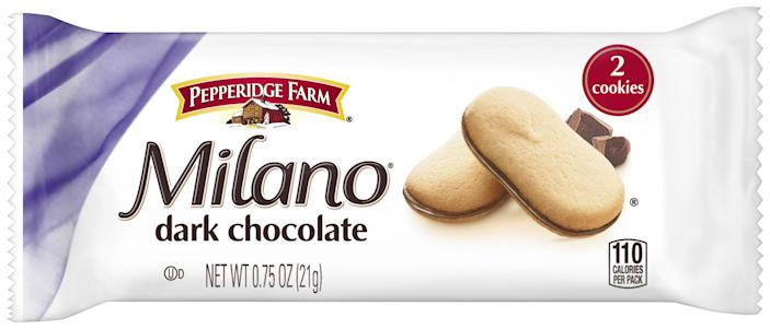 Dark chocolate Milano biscuits are among the cheaper goody bag items. [Photo: Milano]