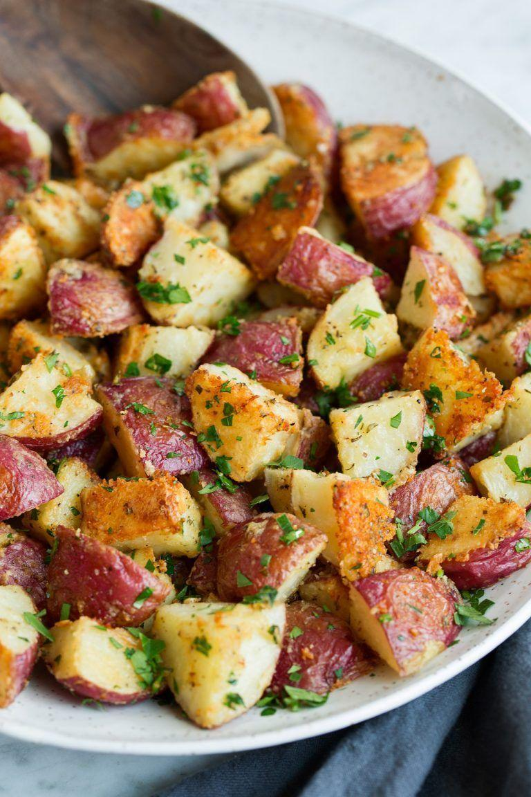 "<p>A mix of rosemary, parsley, and Parmesan gives a flavorful coating to these potatoes. (Not only does this plate taste great, but it will also make your kitchen smell amazing.)</p><p><strong>Get the recipe at <u><a href=""https://www.cookingclassy.com/parmesan-herb-roasted-potatoes/"" rel=""nofollow noopener"" target=""_blank"" data-ylk=""slk:Cooking Classy"" class=""link rapid-noclick-resp"">Cooking Classy</a></u>.</strong> </p>"