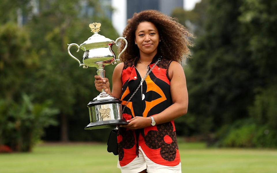 Osaka has four titles from the last six hard-court slams - GETTY IMAGES