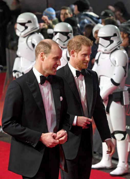 Star Wars Premiere: Prince William and Prince Harry on the red carpet