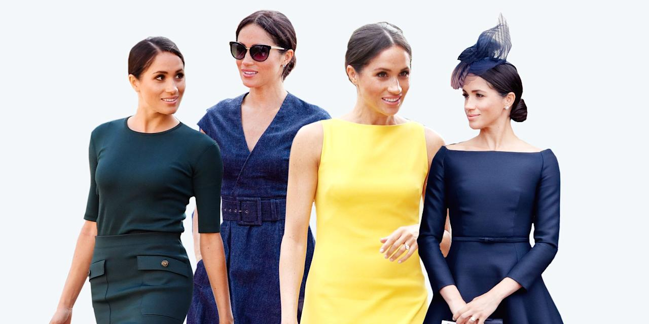 """<p>Meghan Markle has been all over the news recently, not only because of her new role as the Duchess of Sussex (and Prince Harry's wife) but for her impeccable taste in fashion. Given her knack for mixing high-end brands with her own High Street favorites favorites like J. Crew or Mother, whatever Meghan Markle touches turns to gold. <a href=""""https://www.elle.com/fashion/a21099656/meghan-markles-bridal-style-impact-wedding-industry/"""" target=""""_blank"""">The Meghan Markle Effect</a> is alive and well. </p><p>In honor of the Duchess's 38th birthday, we've rounded up 38 of her best fashion moments since becoming a royal. </p>"""