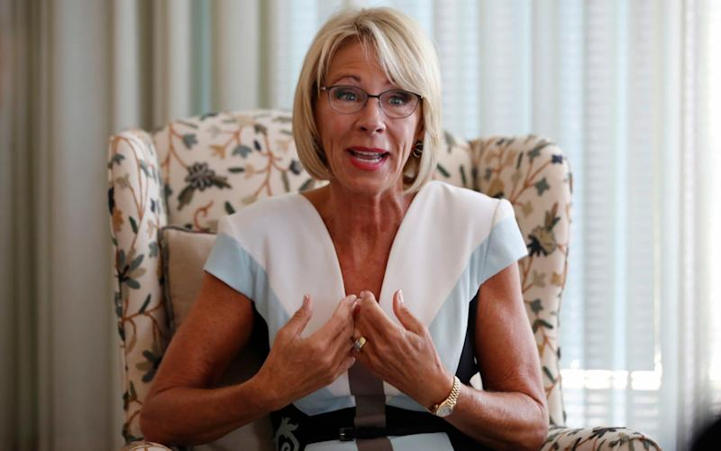 US education secretary Betsy DeVos - AP