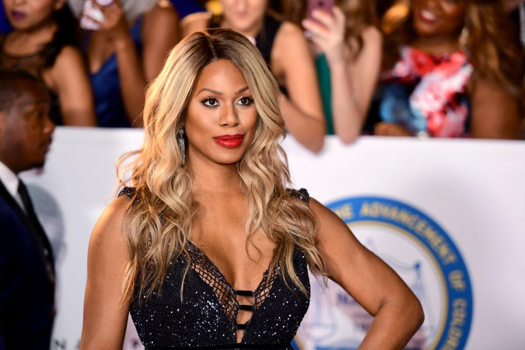 <p>Red lips and bright blond waves gave Laverne Cox a glow that was unstoppable. (Photo by Matt Winkelmeyer/Getty Images) </p>