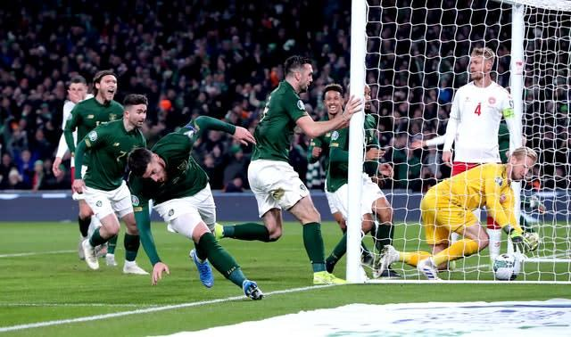 Matt Doherty headed in a late equaliser (Niall Carson/PA)