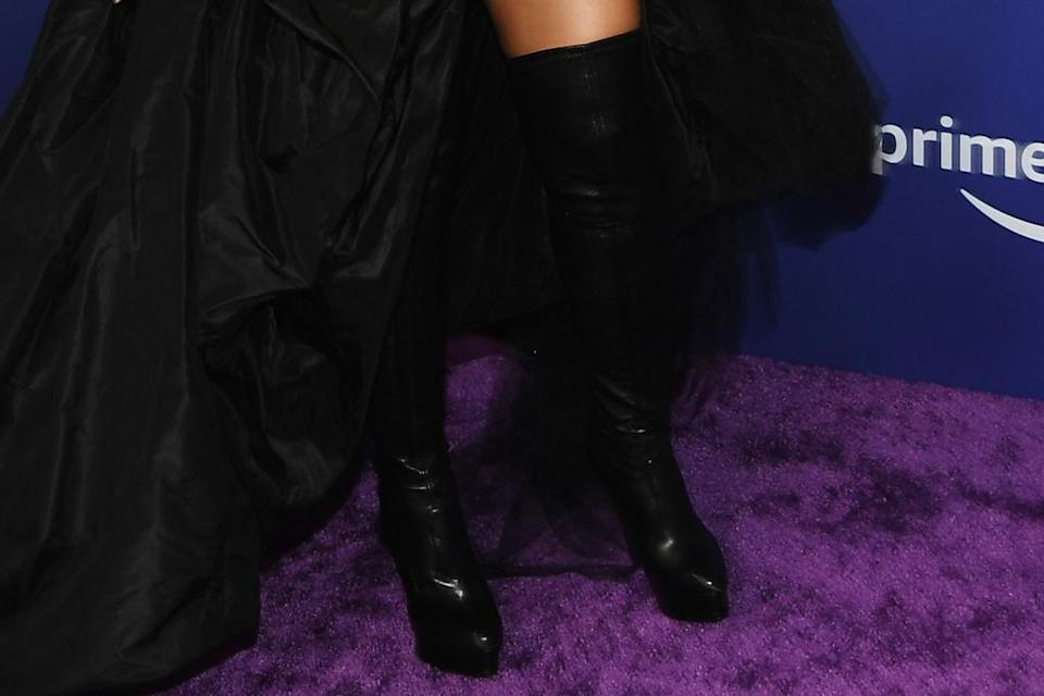 A closer view of Camila Cabello's boots. - Credit: Michael Bucker for PMC
