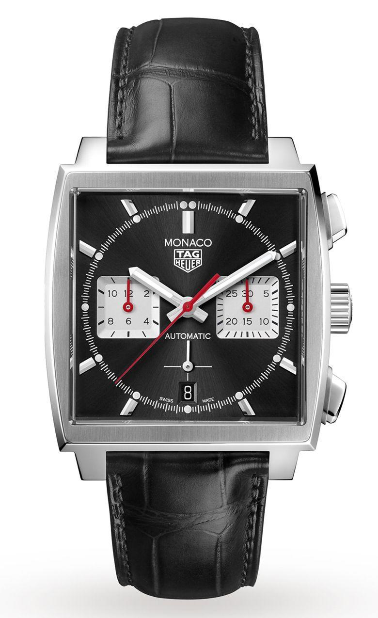 """<p>Monaco 39mm </p><p><a class=""""link rapid-noclick-resp"""" href=""""https://go.redirectingat.com?id=127X1599956&url=https%3A%2F%2Fwww.goldsmiths.co.uk%2FTAG-Heuer-Monaco-39mm-Mens-Watch-CBL2113.FC6177%2Fp%2F17381878%2F&sref=https%3A%2F%2Fwww.menshealth.com%2Fuk%2Fstyle%2Fwatches%2Fg35332587%2Fbest-mens-watche1%2F"""" rel=""""nofollow noopener"""" target=""""_blank"""" data-ylk=""""slk:SHOP"""">SHOP</a></p><p>It is a crying shame that Tag Heuer's Monaco – a watch that paid homage to the race track of Le Mans – was decommissioned for around 20 years. But following a re-release in 1998, it's slowly become one of the marque's marquee pieces. In 2020, they've managed to improve it still.</p><p>As part of a trio that made slight amendments to the current Monaco model, a black dial on black leather is as close to dress watch territory as a racing watch can park and better yet, the in-house Heuer 02 movement has enough juice for over 80 hours of action.</p><p>£5,250; <a href=""""https://go.redirectingat.com?id=127X1599956&url=https%3A%2F%2Fwww.goldsmiths.co.uk%2FTAG-Heuer-Monaco-39mm-Mens-Watch-CBL2113.FC6177%2Fp%2F17381878%2F&sref=https%3A%2F%2Fwww.menshealth.com%2Fuk%2Fstyle%2Fwatches%2Fg35332587%2Fbest-mens-watche1%2F"""" rel=""""nofollow noopener"""" target=""""_blank"""" data-ylk=""""slk:goldsmiths.co.uk"""" class=""""link rapid-noclick-resp"""">goldsmiths.co.uk</a></p>"""