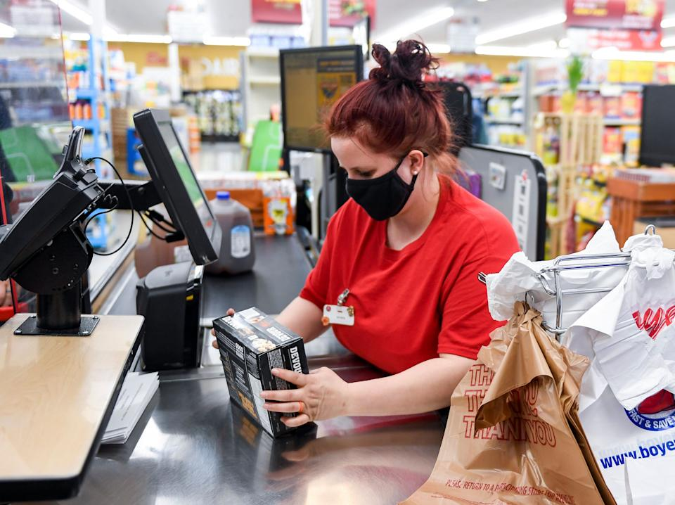 Several grocers said Friday that they will reevaluate their mask policies for customers in light of the new CDC guidance. (Photo: MediaNews Group/Reading Eagle via Getty Images via Getty Images)