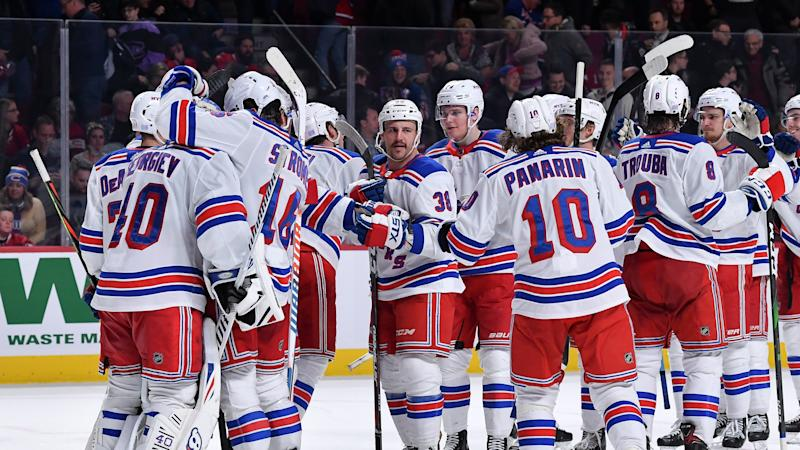 Down 4-0 in the second, the New York Rangers completed the comeback to win in regulation. (Photo by Francois Lacasse/NHLI via Getty Images)