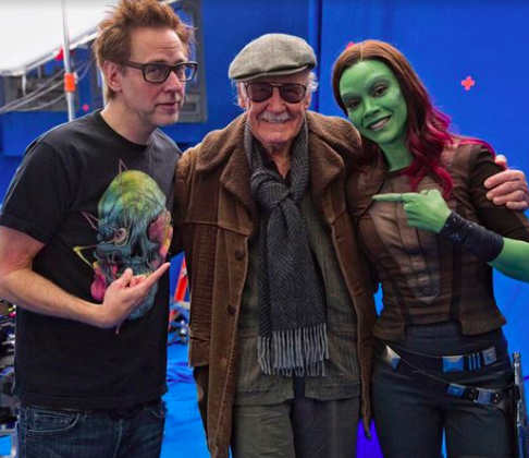 James Gunn, Stan Lee, Zoe Saldana
