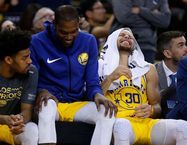 Kevin Durant will be back on the court against the Spurs. (Photo by Nhat V. Meyer/MediaNews Group/The Mercury News via Getty Images)