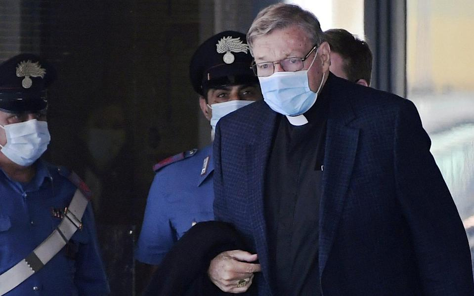 George Pell arrives at Rome's Fiumicino Airport  - REUTERS/Alberto Lingria