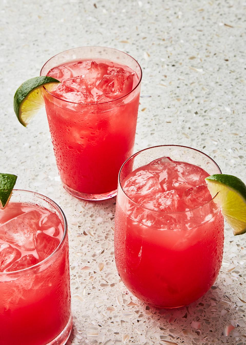 "This recipe is a genius way to use up the second half of that <em>enormous</em> summer watermelon you've been snacking on. There is truly nothing more refreshing than a cold glass of salted watermelon juice. Oh wait, but what about a salted watermelon margarita? <a href=""https://www.bonappetit.com/recipe/salted-watermelon-margarita?mbid=synd_yahoo_rss"" rel=""nofollow noopener"" target=""_blank"" data-ylk=""slk:Here's a recipe for that too."" class=""link rapid-noclick-resp"">Here's a recipe for that too.</a> This recipe is part of the Healthyish Farmers' Market Challenge. Get all 10 recipes <a href=""https://www.bonappetit.com/farmersmarketchallenge?mbid=synd_yahoo_rss"" rel=""nofollow noopener"" target=""_blank"" data-ylk=""slk:here"" class=""link rapid-noclick-resp"">here</a>. <a href=""https://www.bonappetit.com/recipe/salted-watermelon-juice?mbid=synd_yahoo_rss"" rel=""nofollow noopener"" target=""_blank"" data-ylk=""slk:See recipe."" class=""link rapid-noclick-resp"">See recipe.</a>"