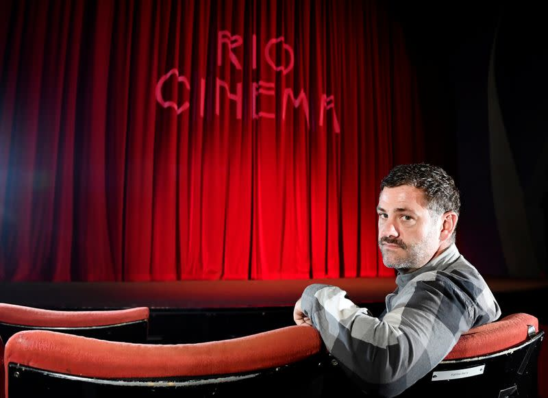 Meek, Executive Director of the Rio Cinema Dalston, sits for a portrait during a Reuters interview, amidst the spread of the coronavirus disease (COVID-19) pandemic, in London, Britain